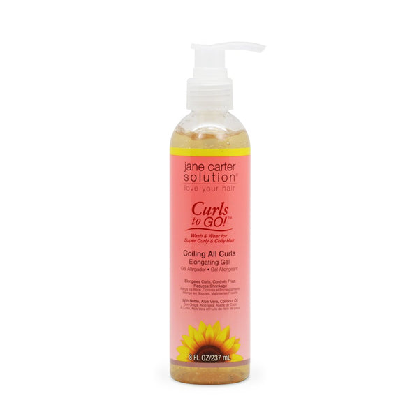 Jane Carter Curls to Go! Coiling All Curls Elongating Gel 8oz