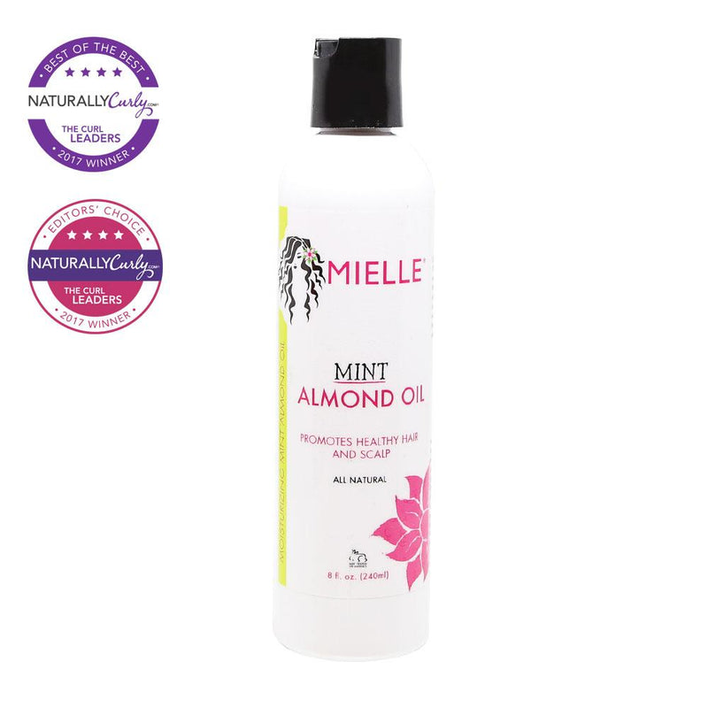 MIELLE ORGANICS ALL NATURAL MINT ALMOND OIL-NEW 8 oz.