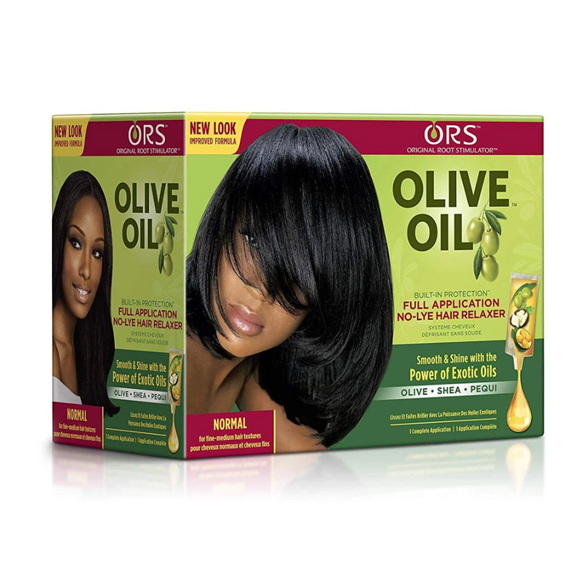 ORS Olive Oil Built-In Protection Full Application No-Lye Hair Relaxer - Extra Strength Kit