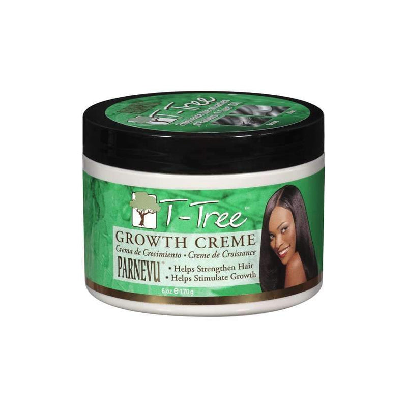 Parnevu T-Tree Growth Creme Helps Strengthen Hair 6 oz.