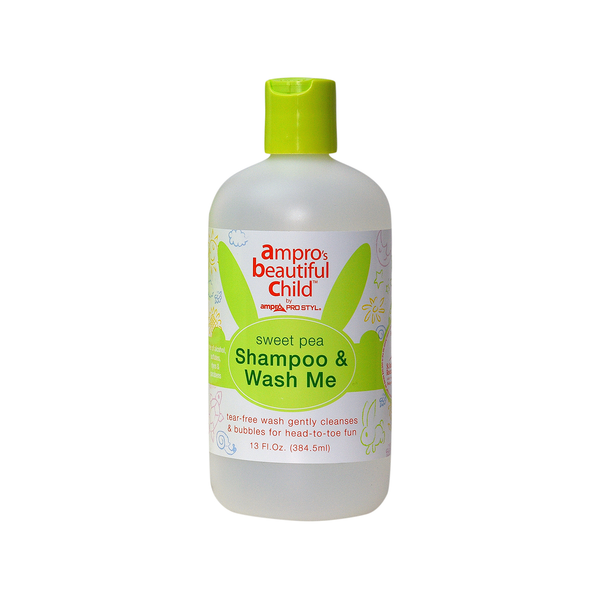 Ampro Beautiful Child Sweet Pea Shampoo & Wash Me Tear Free Gentle Cleanser 13 oz.
