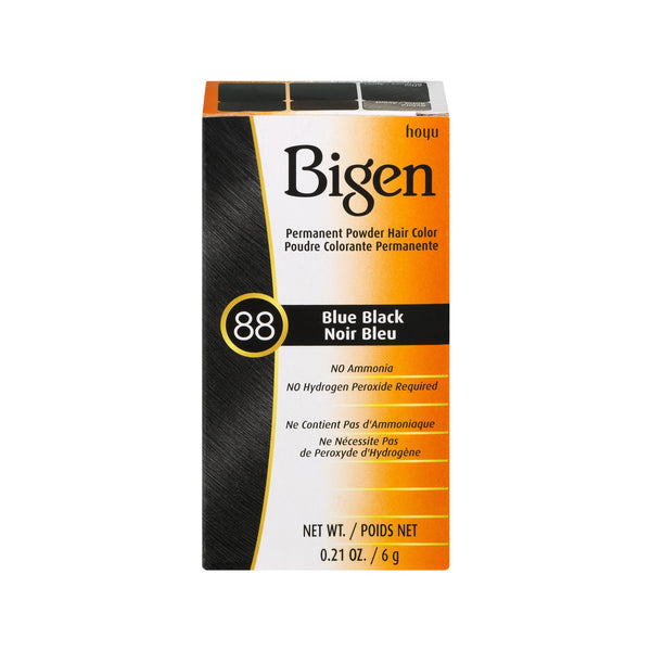 Bigen Permanent Powder Hair Color Blue Black 88