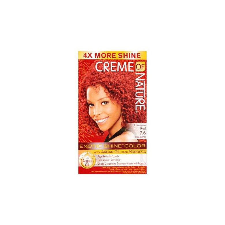 Creme of Nature Exotic Shine Color With Argan Oil, Intensive Red 7.6
