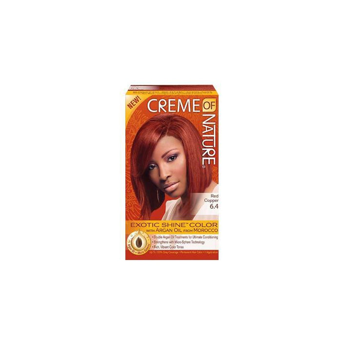 Creme of Nature Exotic Shine Color, Red Copper, 6.4