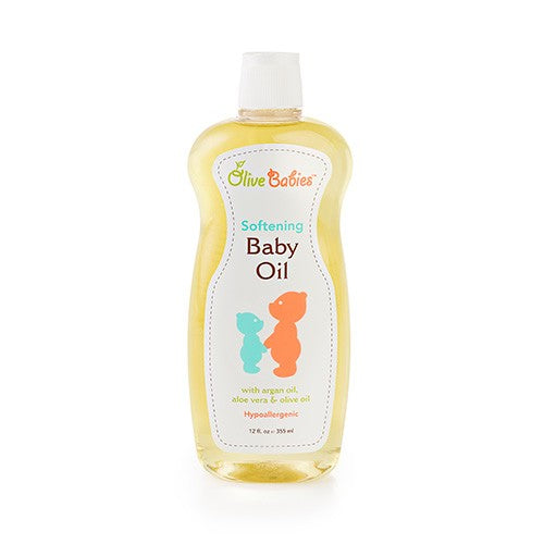Olive Babies Softening Baby Oil, 12 oz.