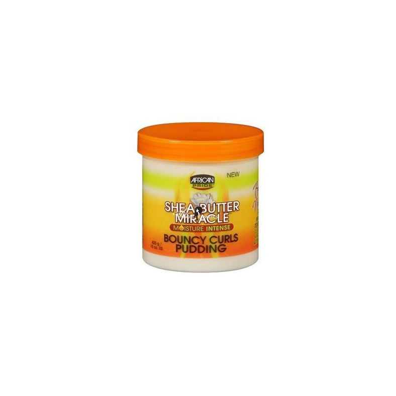 African Pride Shea Butter Miracle Bouncy Curls Pudding, 15 oz.