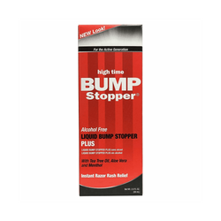 High Time Liquid Bump Stopper Plus With Tea Tree Oil, Aloe Vera & Menthol 2 oz.