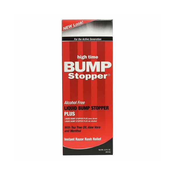 High Time Liquid Bump Stopper Plus With Tea Tree Oil, Aloe Vera & Menthol 2.Oz