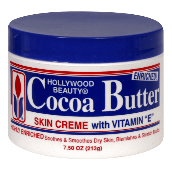 Hollywood Beauty Cocoa Butter Skin Creme with Vitamin E 7.5 oz.