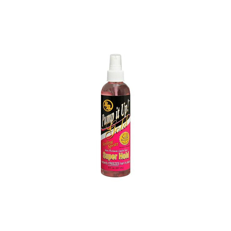 Bronner Brothers Pump It Up Spritz Gold Super Hold, 8 oz.