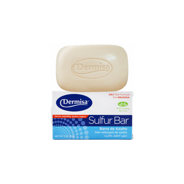 Dermisa Sulfur Facial Bar, 3 Ounce