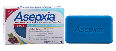 Asepxia Scrub Soap Bar for Combination Skin 4 oz.