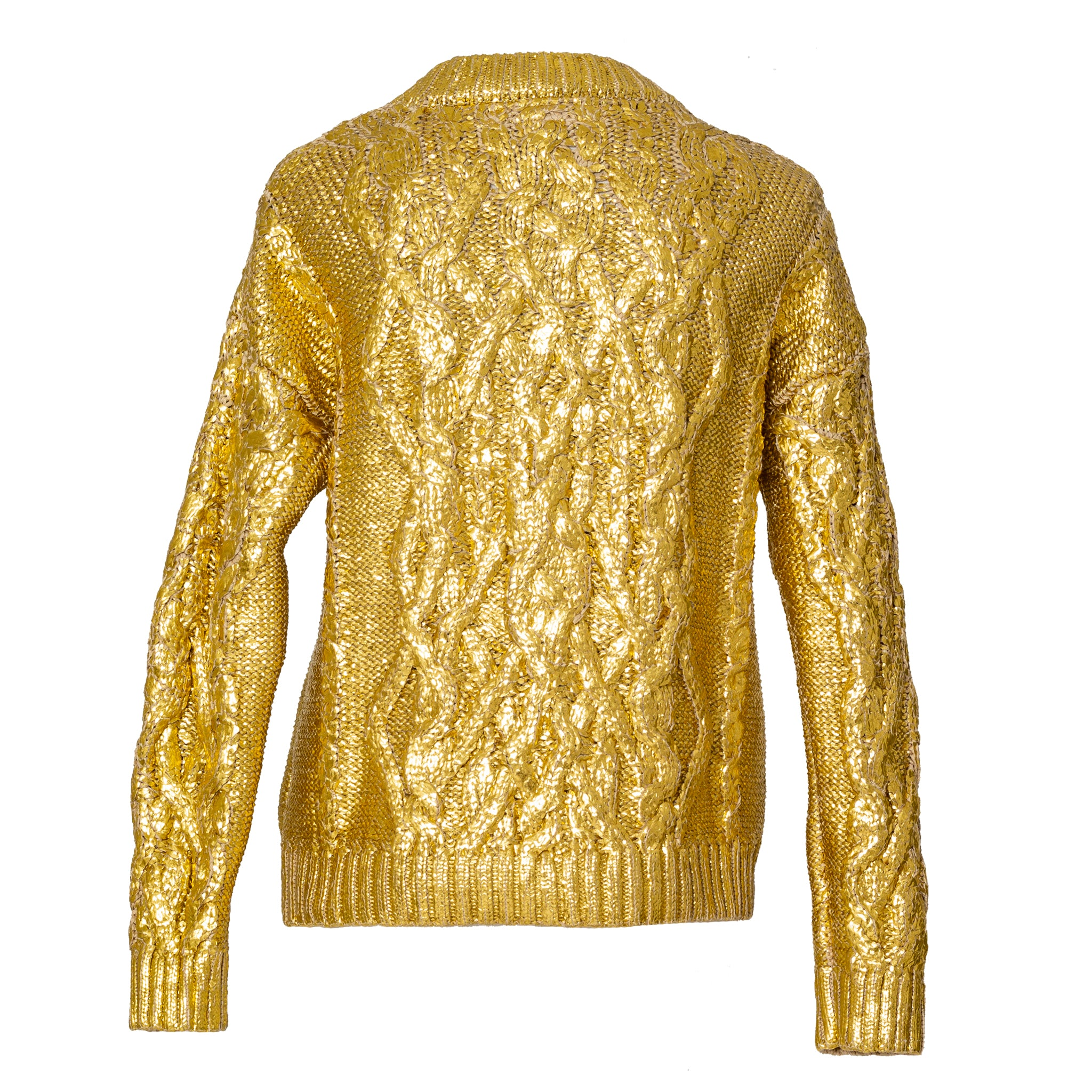 Gold Shiny Sweater