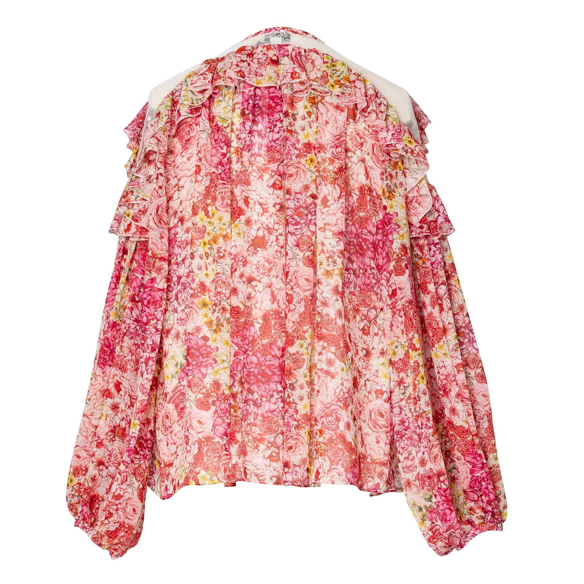 Pink Flower Printed Blouse