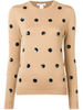 Polka Dot Embroidered Sweater
