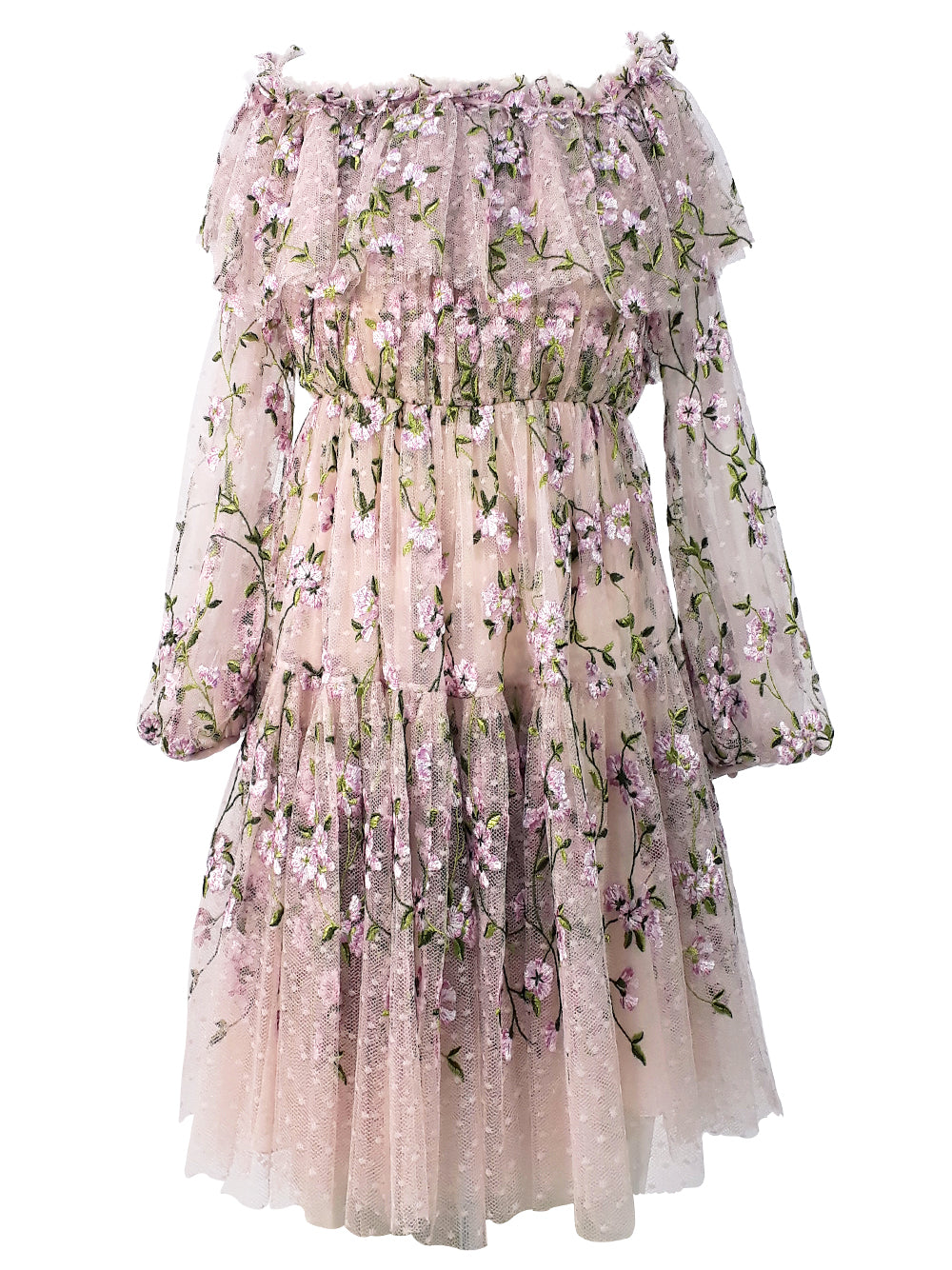 Tulle Floral Dress