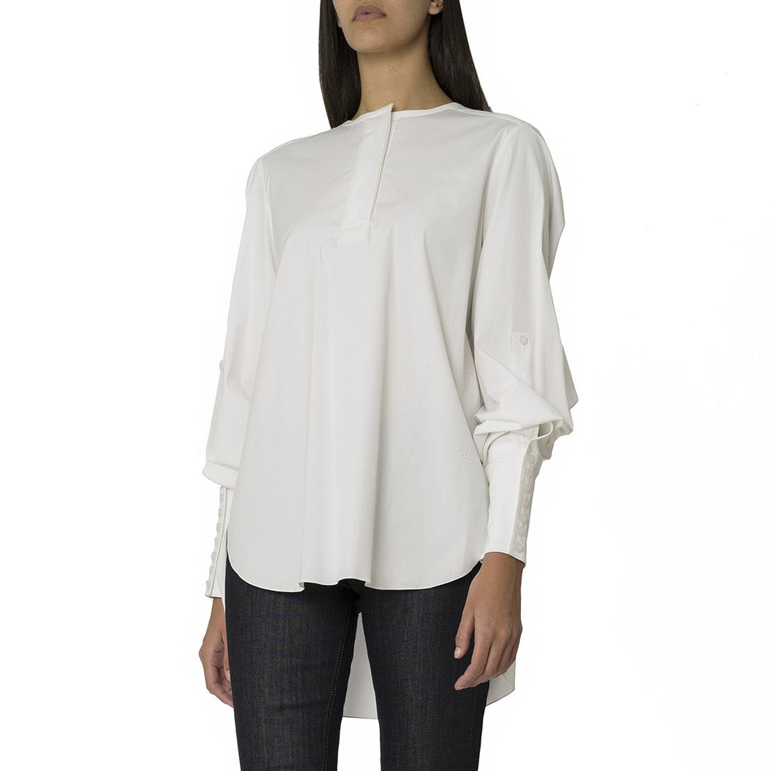 White Shirt with Back Detail