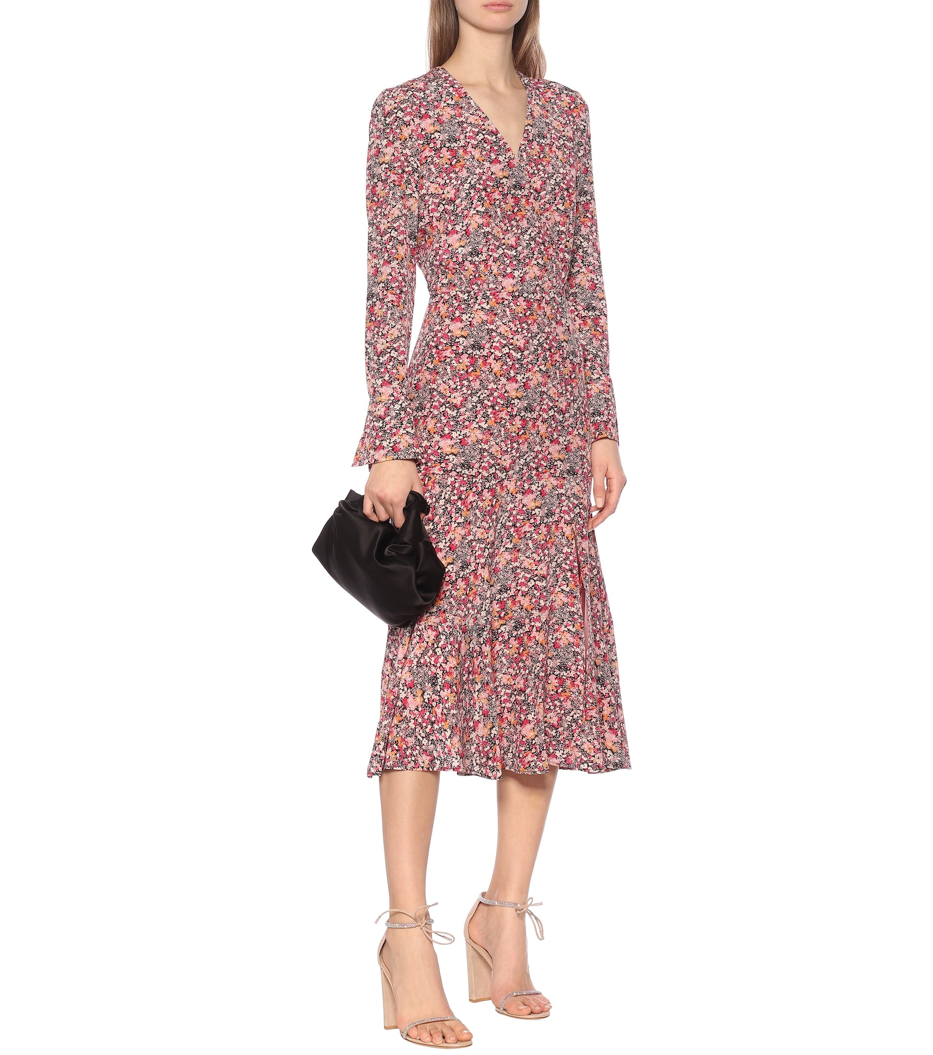 Martha Floral Silk Dress