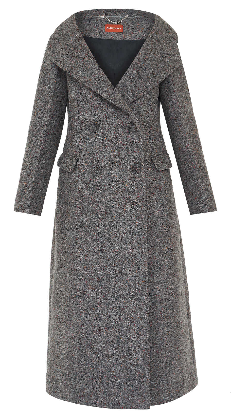 Barbara Melange Wool Blend Coat