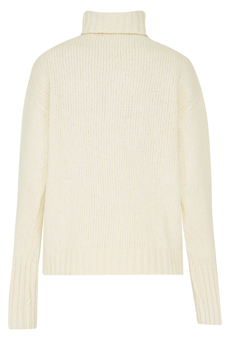 Ecru Wool Sweater