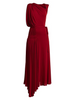 Sleeveless Asymmetric Draped Gown