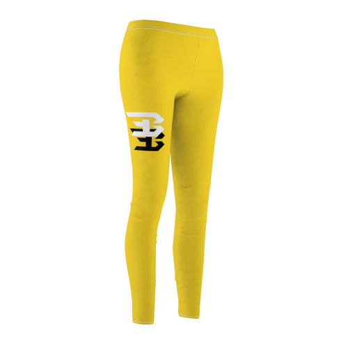 Women's Cut & Sew Casual Leggings (yellow)