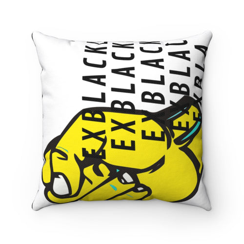 Fist Up (spun polyester square pillow)