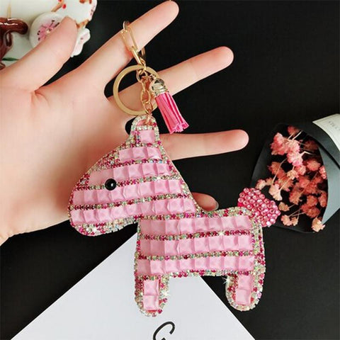 Porte-Clés Cheval <br> Poney Rose