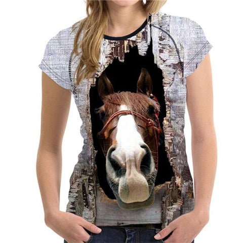 T-Shirt Cheval <br> Coucou (Femme)