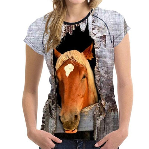 T-Shirt Cheval <br> Jument (Femme)