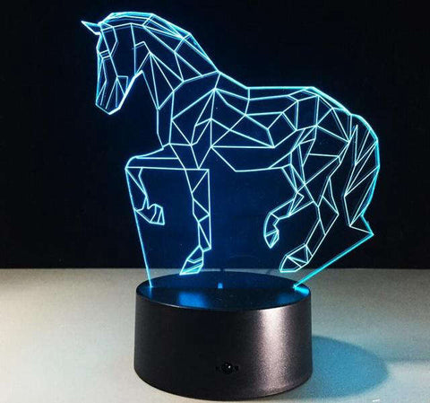 Lampe Cheval Trait
