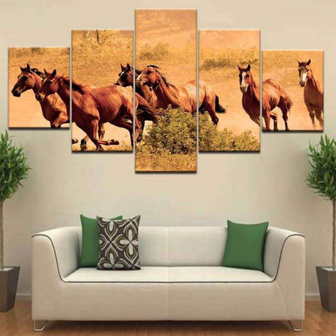 Tableau Chevaux Mustang