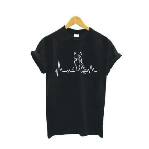 T-shirt Cheval Onde