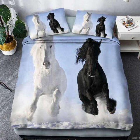 Housse de Couette Cheval Ying Yang