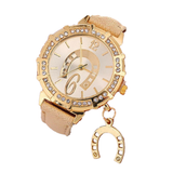 Montre Femme Theme Cheval or