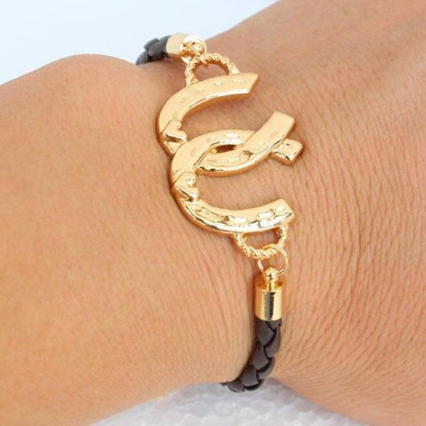Bracelet Cheval<br> Double Fer à Cheval