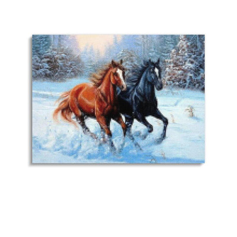 Broderie Diamants Cheval <br> Grand Froid