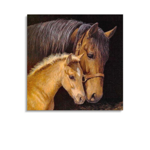 Broderie Diamants Cheval <br> Poulain Mignon