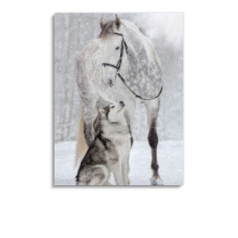 Broderie Diamants Cheval <br> Esprit Sibérien