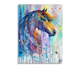 Broderie Diamants Cheval <br> Style Aquarelle