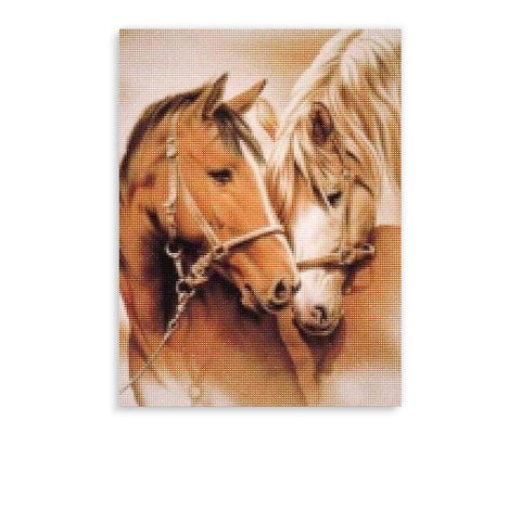 Broderie Diamants <br> Chevaux Anciens