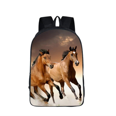Cartable Cheval<br> Chevaux Marrons