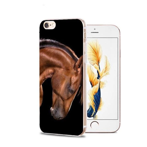 Coque iPhone Cheval<br> Brun