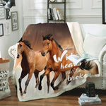 Plaid Polaire <br> Cheval au Galop