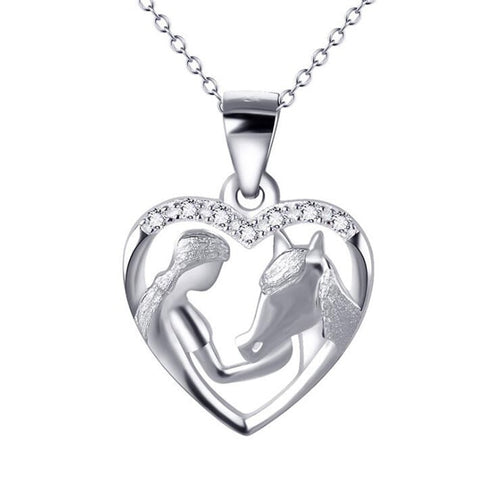 Collier Cheval Fille Argent