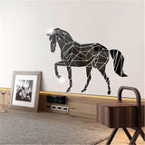 Stickers Cheval Miroir argent