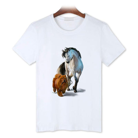 T-Shirt Cheval <br> Belle Amitié