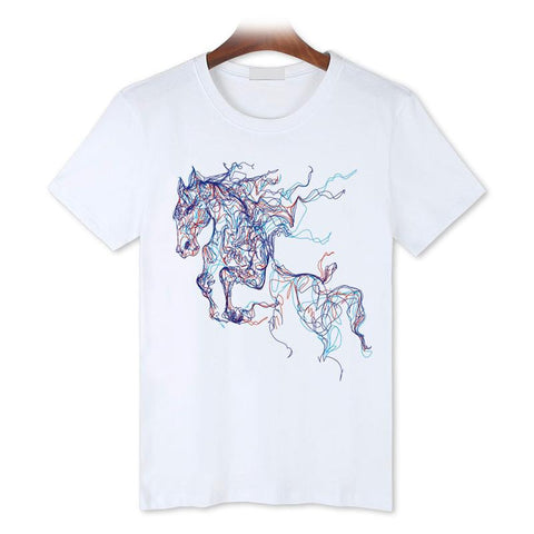 T-Shirt Cheval <br> Étalon Stylisé
