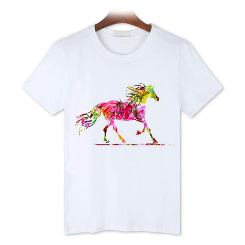 T-Shirt Cheval <br> Motif Stylisé
