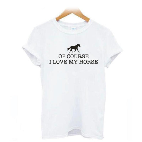 T-Shirt Cheval <br> Message d'Amour